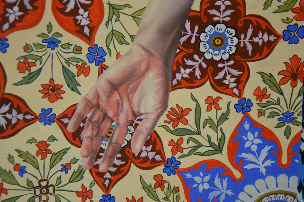 malerier, farverige, figurative, illustrative, portræt, kroppe, botanik, mønstre, mennesker, tekstiler, blå, grønne, røde, gule,  bomuldslærred, olie, tøj, samtidskunst, kvindelig, blomster, interiør, bolig-indretning, moderne, moderne-kunst, planter, realisme, levende, kvinder, Køb original kunst og kunstplakater. Malerier, tegninger, limited edition kunsttryk & plakater af dygtige kunstnere.