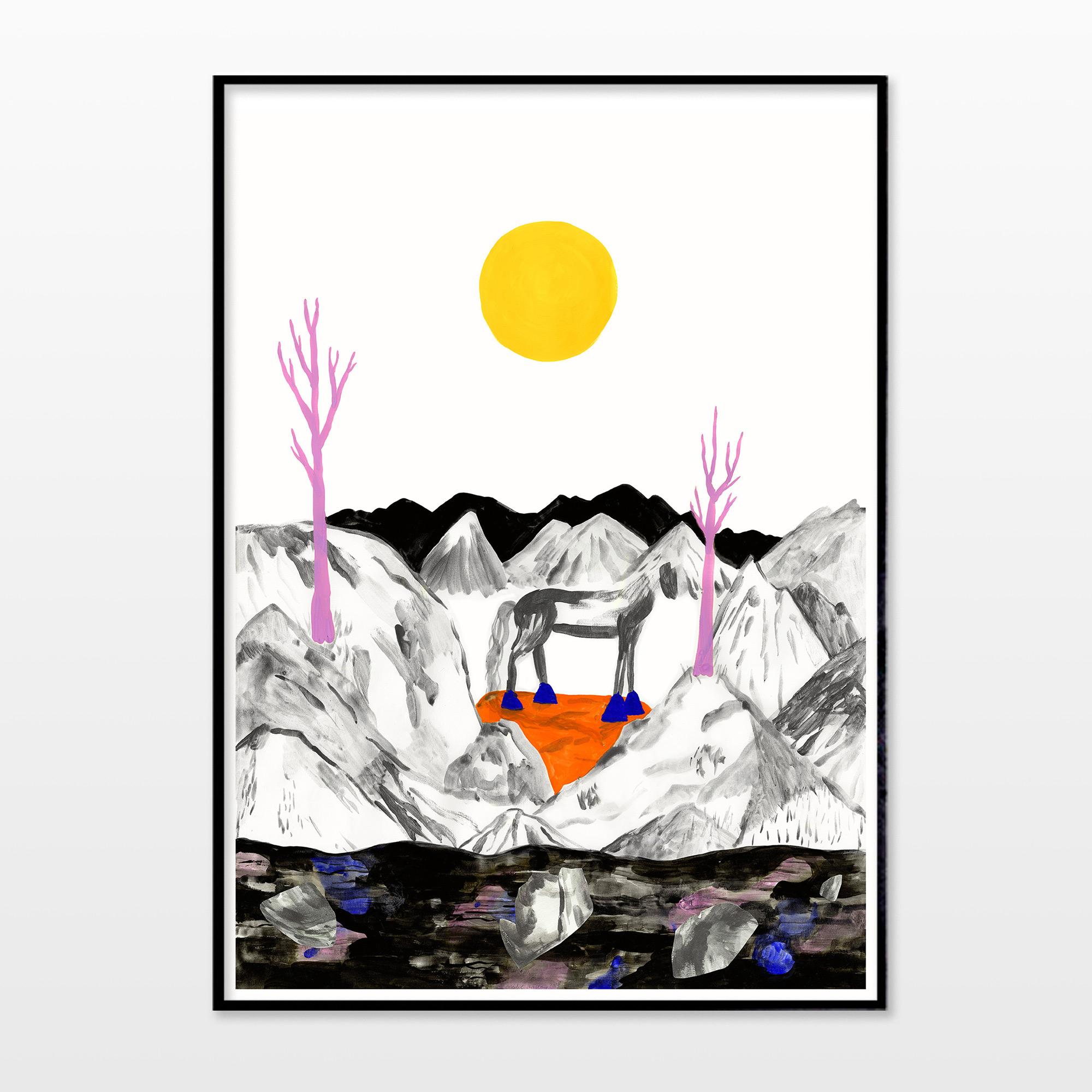 plakater-posters-kunsttryk, giclee-tryk, æstetiske, figurative, illustrative, landskab, minimalistiske, dyreliv, botanik, natur, himmel, vilde-dyr, sorte, grå, gule, blæk, papir, atmosfære, smukke, samtidskunst, dansk, dekorative, design, skov, heste, interiør, bolig-indretning, moderne, moderne-kunst, nordisk, plakater, tryk, skandinavisk, sol, Køb original kunst og kunstplakater. Malerier, tegninger, limited edition kunsttryk & plakater af dygtige kunstnere.