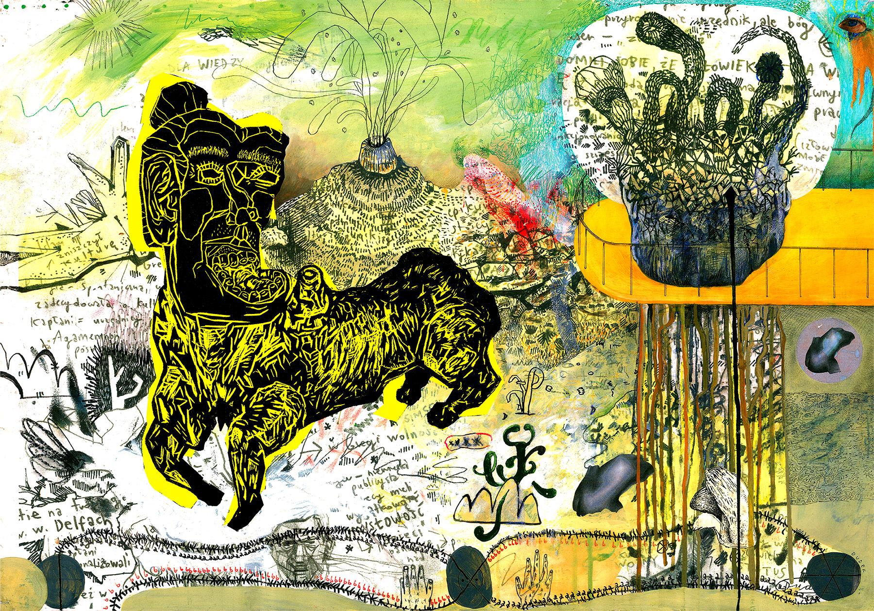 plakater-posters-kunsttryk, farverige, ekspressionistiske, figurative, landskab, surrealistiske, dyreliv, botanik, natur, himmel, sorte, grønne, turkise, gule, blæk, papir, samtidskunst, dekorative, design, interiør, bolig-indretning, moderne, moderne-kunst, plakater, flotte, Køb original kunst og kunstplakater. Malerier, tegninger, limited edition kunsttryk & plakater af dygtige kunstnere.