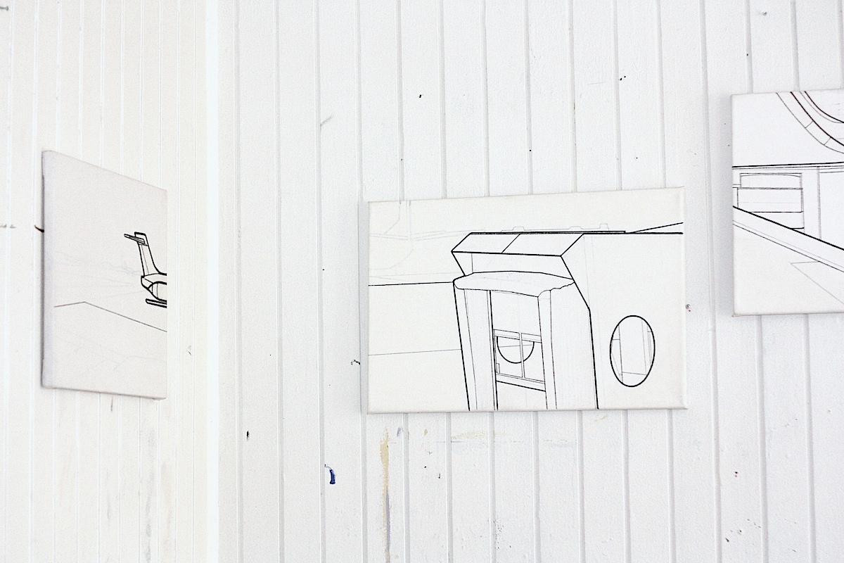 malerier, geometriske, grafiske, minimalistiske, monokrome, videnskab, himmel, transportmidler, sorte, hvide, akryl, kridt,  bomuldslærred, fly, flyvemaskiner, sort-hvide, samtidskunst, københavn, dekorative, moderne, moderne-kunst, Køb original kunst og kunstplakater. Malerier, tegninger, limited edition kunsttryk & plakater af dygtige kunstnere.