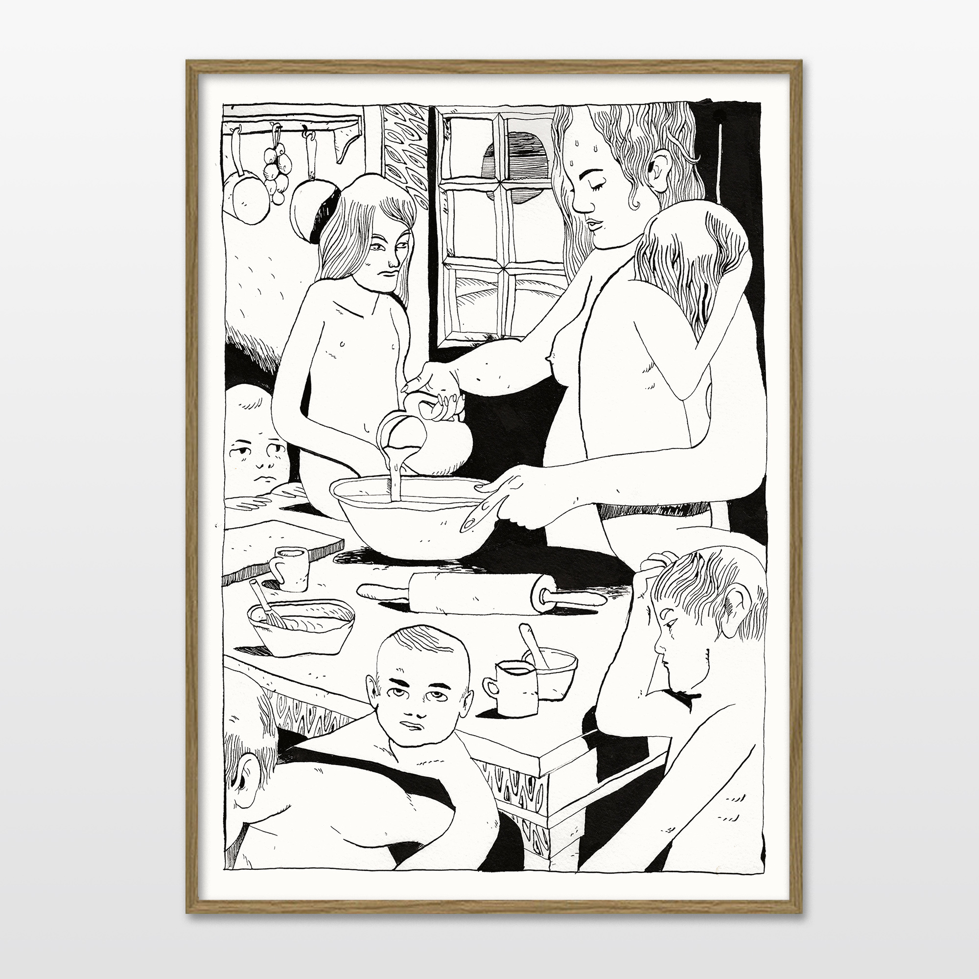 plakater-posters-kunsttryk, giclee-tryk, børnevenlige, illustrative, monokrome, portræt, børn, hverdagsliv, mennesker, sorte, hvide, blæk, papir, sort-hvide, samtidskunst, dansk, design, ansigter, mad, interiør, bolig-indretning, moderne, moderne-kunst, nordisk, plakater, tryk, skandinavisk, Køb original kunst og kunstplakater. Malerier, tegninger, limited edition kunsttryk & plakater af dygtige kunstnere.