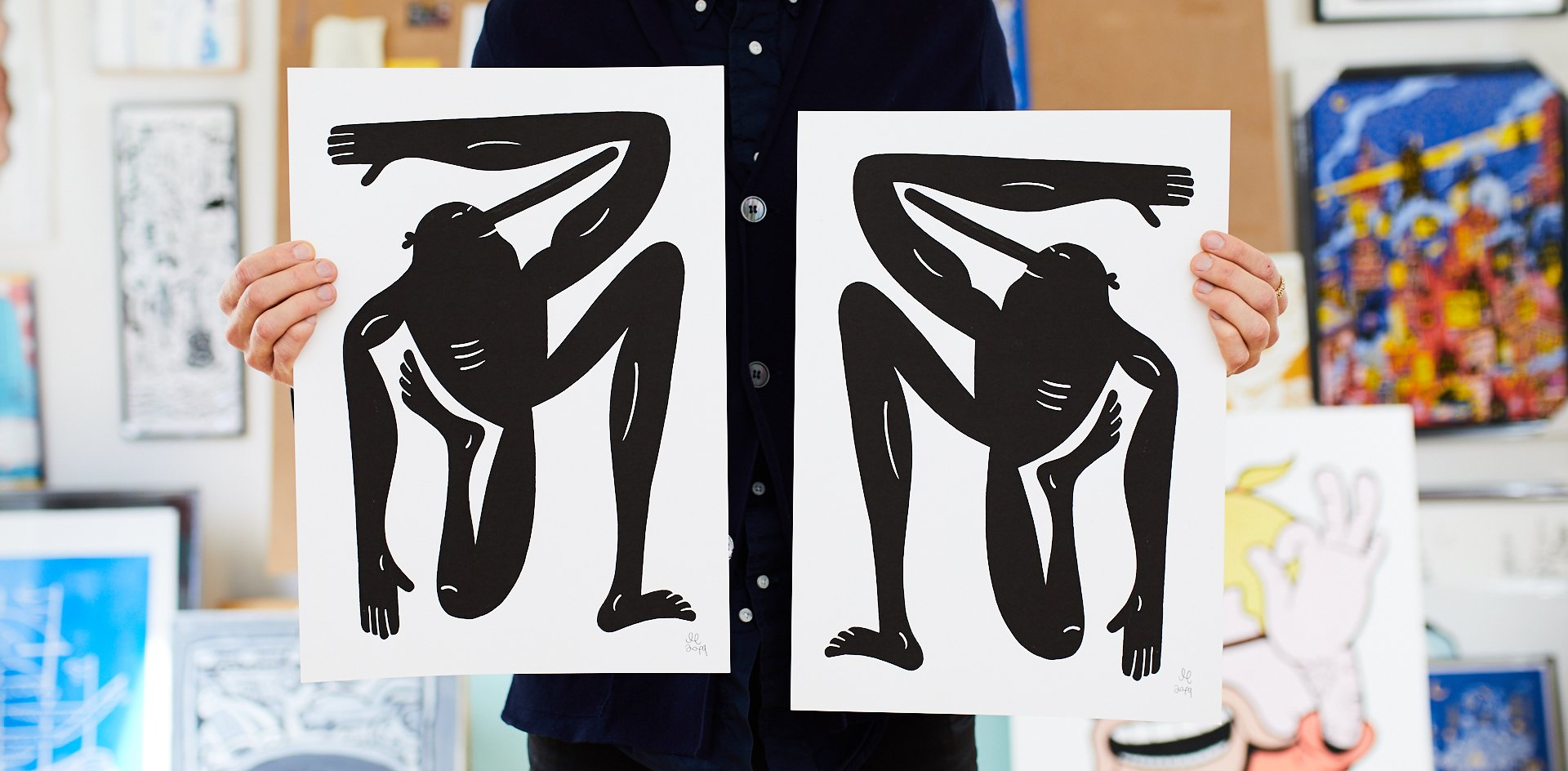 plakater-posters-kunsttryk, giclee-tryk, børnevenlige, figurative, grafiske, illustrative, kroppe, tegneserier, humor, bevægelse, mennesker, sport, blå, blæk, papir, sjove, samtidskunst, interiør, bolig-indretning, moderne, moderne-kunst, nordisk, plakater, tryk, skandinavisk, Køb original kunst og kunstplakater. Malerier, tegninger, limited edition kunsttryk & plakater af dygtige kunstnere.
