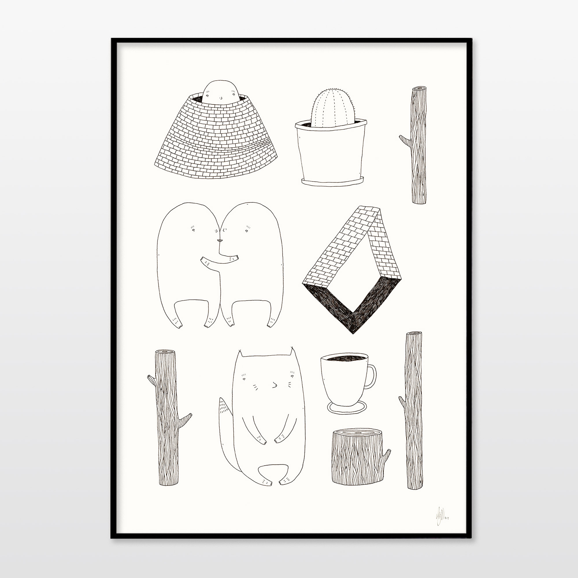 kunsttryk, gicleé, børnevenlige, figurative, illustrative, minimalistiske, tegneserier, humor, stemninger, kæledyr, sorte, hvide, blæk, papir, sjove, københavn, sød, dansk, dekorative, design, interiør, bolig-indretning, moderne, moderne-kunst, nordisk, plakater, tryk, skandinavisk, Køb original kunst og kunstplakater. Malerier, tegninger, limited edition kunsttryk & plakater af dygtige kunstnere.