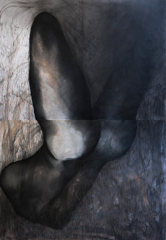 tegninger, æstetiske, figurative, portræt, kroppe, seksualitet, sorte, blå, hvide, akryl, kul, papir, abstrakte-former, nøgenhed, Køb original kunst af den højeste kvalitet. Malerier, tegninger, limited edition kunsttryk & plakater af dygtige kunstnere.