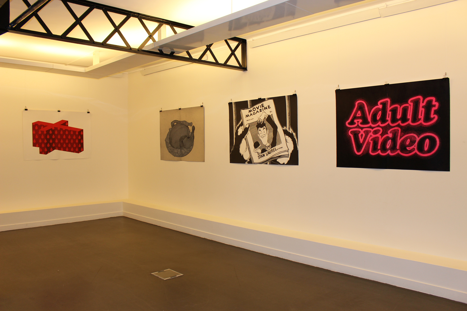 ADULT VIDEO linocut_exhibition