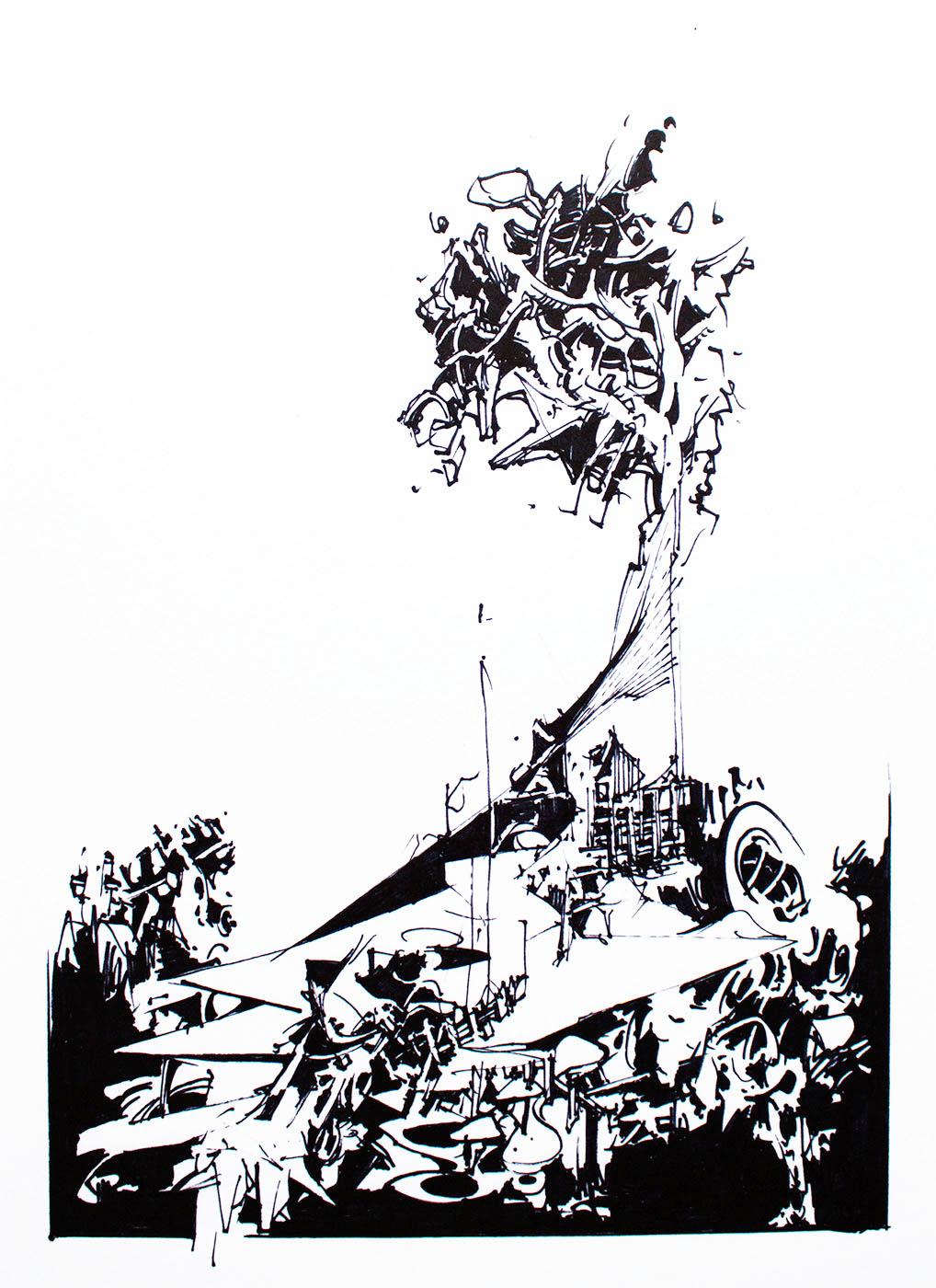 kunsttryk, gliceé, abstrakte, geometriske, monokrome, arkitektur, mønstre, sorte, hvide, papir, abstrakte-former, arkitektoniske, sort-hvide, Køb original kunst af den højeste kvalitet. Malerier, tegninger, limited edition kunsttryk & plakater af dygtige kunstnere.