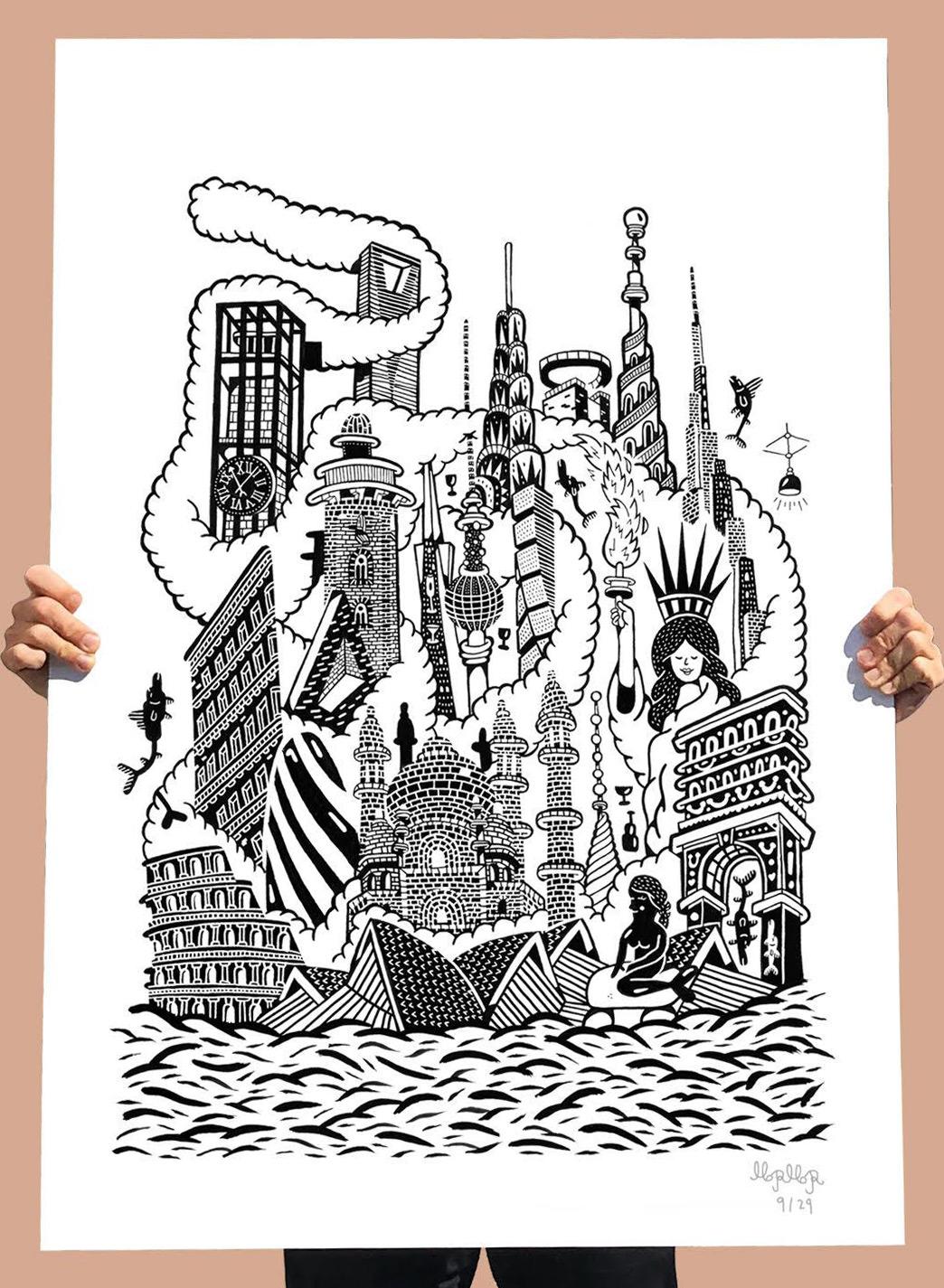 plakater-posters-kunsttryk, giclee-tryk, børnevenlige, figurative, grafiske, illustrative, landskab, pop, arkitektur, tegneserier, børn, humor, havet, sorte, hvide, blæk, papir, sjove, arkitektoniske, strand, sort-hvide, bygninger, kendte-personer, byer, samtidskunst, dekorative, design, have, interiør, bolig-indretning, moderne, moderne-kunst, Køb original kunst og kunstplakater. Malerier, tegninger, limited edition kunsttryk & plakater af dygtige kunstnere.