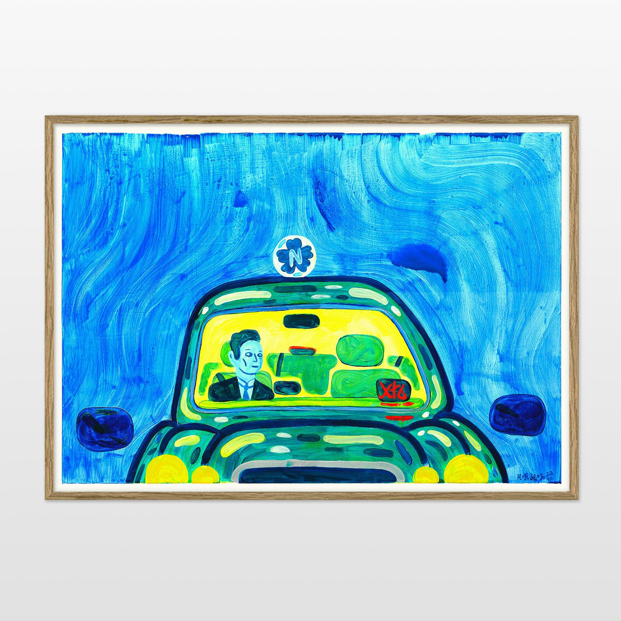 plakater-posters-kunsttryk, giclee-tryk, farverige, børnevenlige, figurative, grafiske, pop, kroppe, tegneserier, hverdagsliv, bevægelse, mennesker, transportmidler, blå, grønne, turkise, gule, blæk, papir, sjove, biler, samtidskunst, dansk, dekorative, design, interiør, bolig-indretning, moderne, moderne-kunst, nordisk, plakater, tryk, skandinavisk, Køb original kunst og kunstplakater. Malerier, tegninger, limited edition kunsttryk & plakater af dygtige kunstnere.