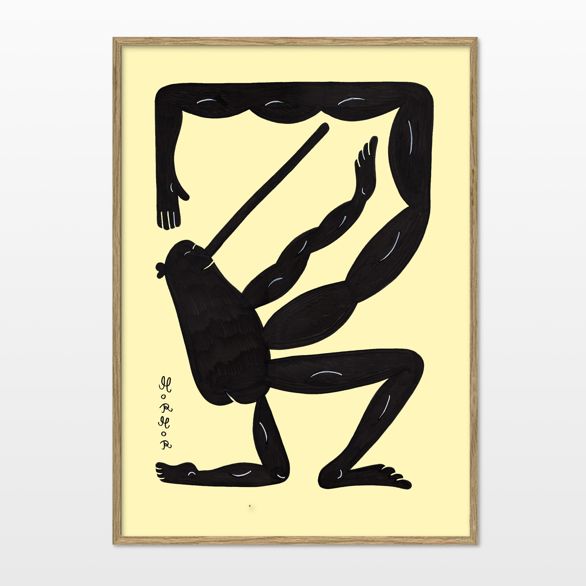 plakater-posters-kunsttryk, giclee-tryk, børnevenlige, figurative, grafiske, illustrative, pop, kroppe, tegneserier, humor, bevægelse, beige, sorte, blæk, papir, sjove, samtidskunst, dekorative, interiør, bolig-indretning, moderne, plakater, Køb original kunst og kunstplakater. Malerier, tegninger, limited edition kunsttryk & plakater af dygtige kunstnere.