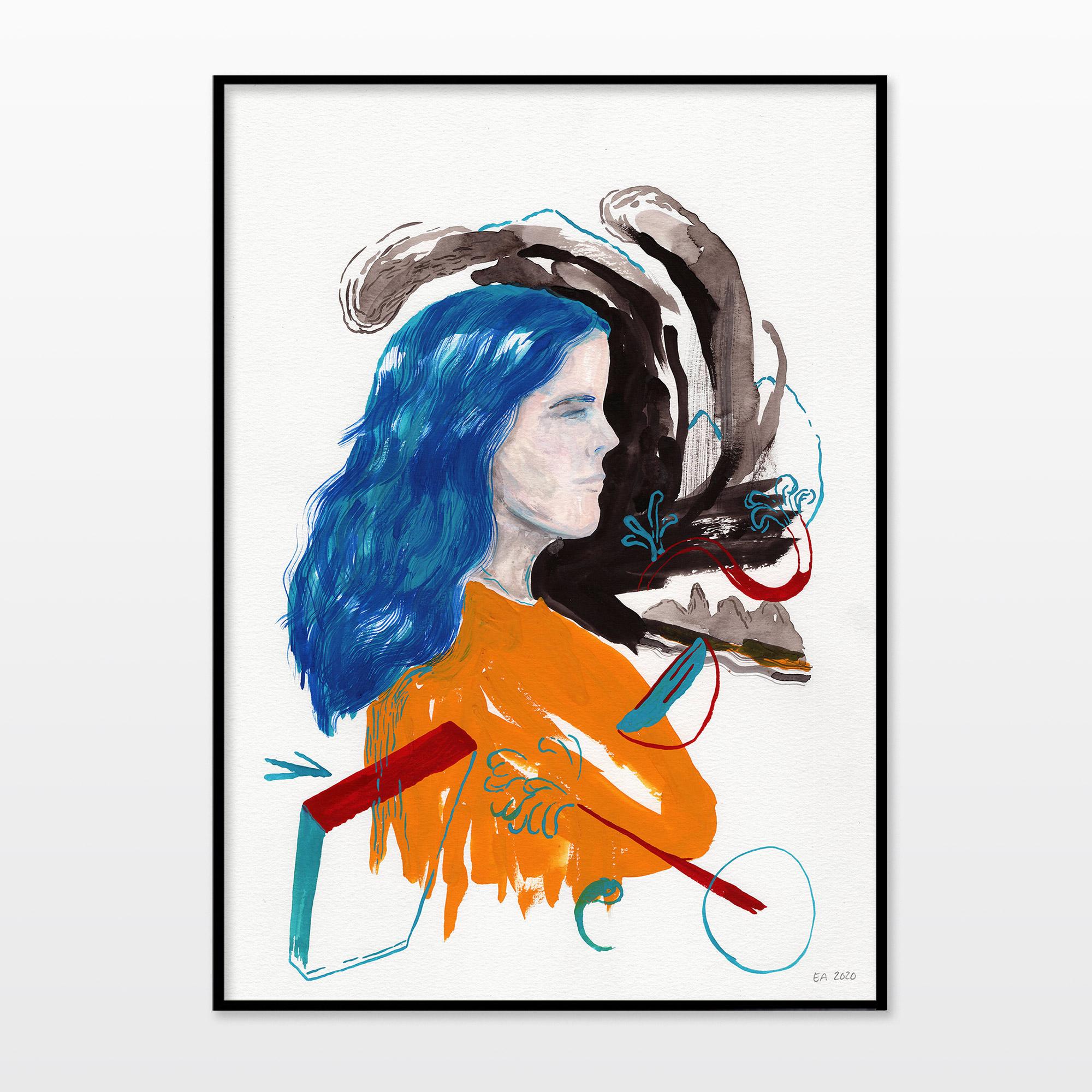 tegninger, gouache-malerier, akvarel-malerier, æstetiske, farverige, figurative, grafiske, illustrative, kroppe, botanik, mennesker, sorte, blå, orange, akryl, blæk, papir, akvarel, smukke, dansk, dekorative, design, ansigter, kvindelig, interiør, bolig-indretning, moderne, moderne-kunst, nordisk, planter, plakater, flotte, skandinavisk, kvinder, Køb original kunst og kunstplakater. Malerier, tegninger, limited edition kunsttryk & plakater af dygtige kunstnere.