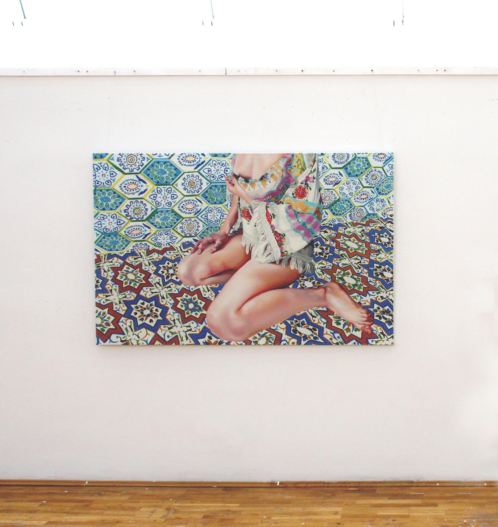 malerier, æstetiske, farverige, figurative, portræt, kroppe, botanik, mønstre, seksualitet, beige, blå, turkise, gule,  bomuldslærred, olie, erotiske, planter, seksuel, levende, Køb original kunst af den højeste kvalitet. Malerier, tegninger, limited edition kunsttryk & plakater af dygtige kunstnere.