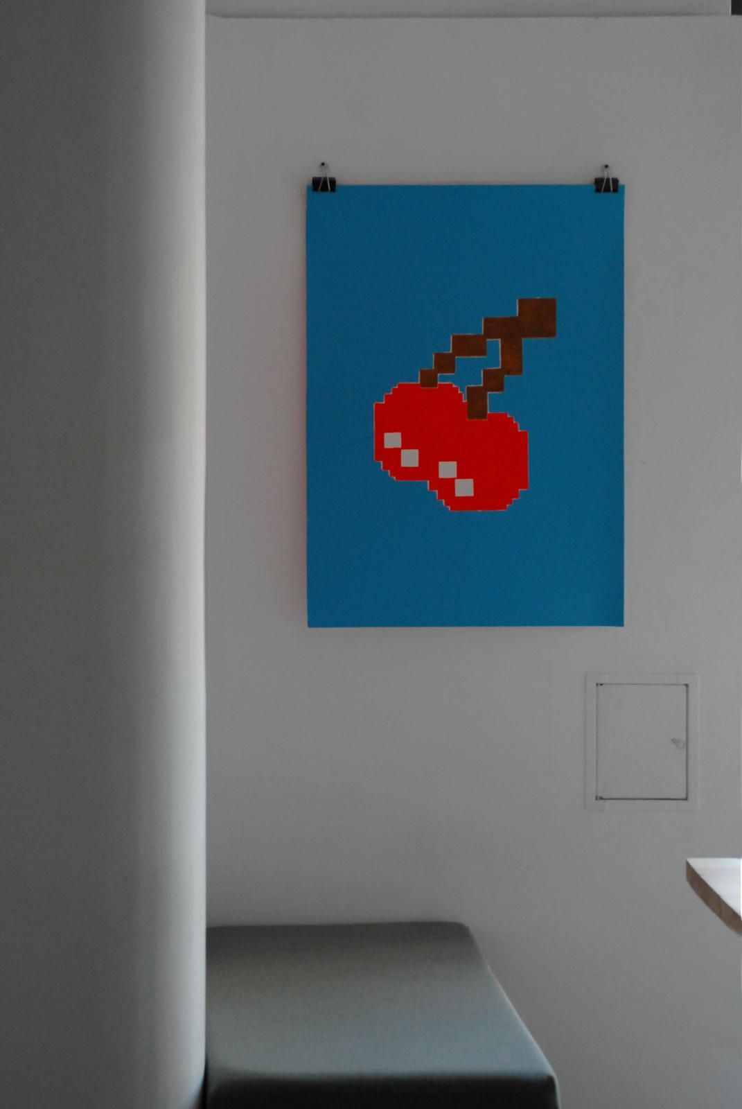 CHERRY linocut_interior