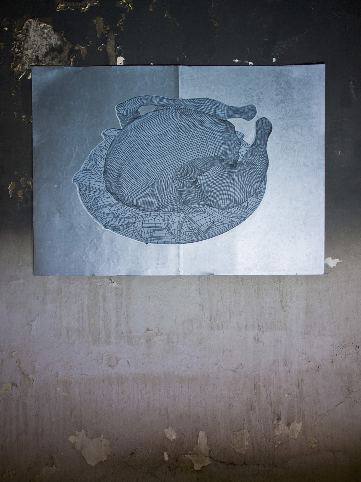 CHICKEN linocut_artistic photography