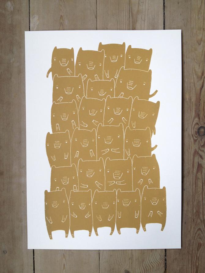 plakater-posters-kunsttryk, silketryk, børnevenlige, grafiske, illustrative, pop, tegneserier, børn, humor, kæledyr, beige, brune, hvide, akryl, papir, abstrakte-former, sjove, sød, dansk, interiør, bolig-indretning, moderne, nordisk, plakater, street-art, Køb original kunst og kunstplakater. Malerier, tegninger, limited edition kunsttryk & plakater af dygtige kunstnere.