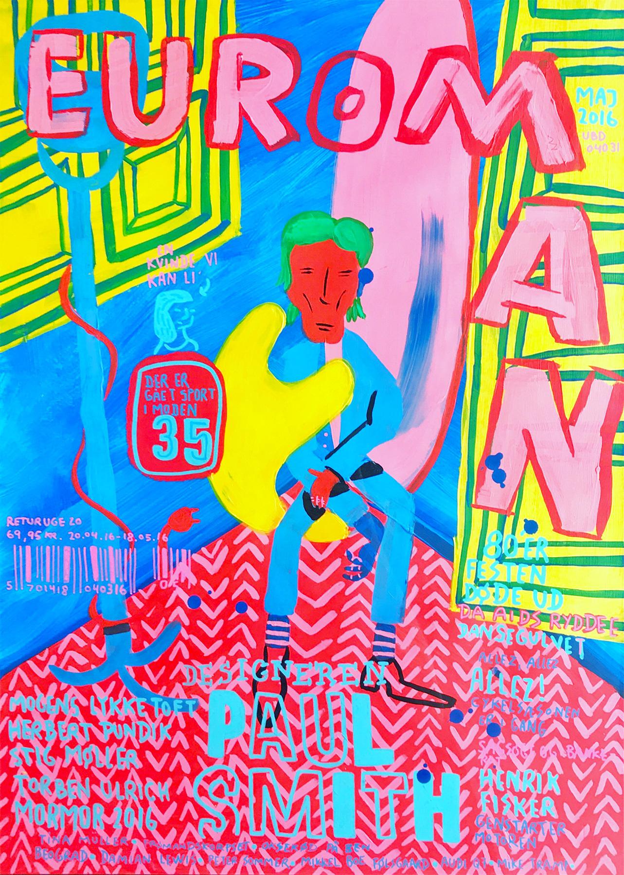 malerier, farverige, illustrative, pop, tegneserier, hverdagsliv, humor, mennesker, blå, pink, gule, akryl, papir, tusch, sjove, kendte-personer, dansk, dekorative, design, interiør, bolig-indretning, moderne, nordisk, skandinavisk, Køb original kunst og kunstplakater. Malerier, tegninger, limited edition kunsttryk & plakater af dygtige kunstnere.