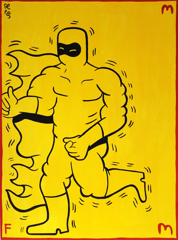 malerier, børnevenlige, pop, kroppe, humor, røde, gule,  bomuldslærred, andre-medier, sjove, samtidskunst, sød, dansk, dekorative, design, interiør, bolig-indretning, moderne, moderne-kunst, skandinavisk, street-art, Køb original kunst og kunstplakater. Malerier, tegninger, limited edition kunsttryk & plakater af dygtige kunstnere.