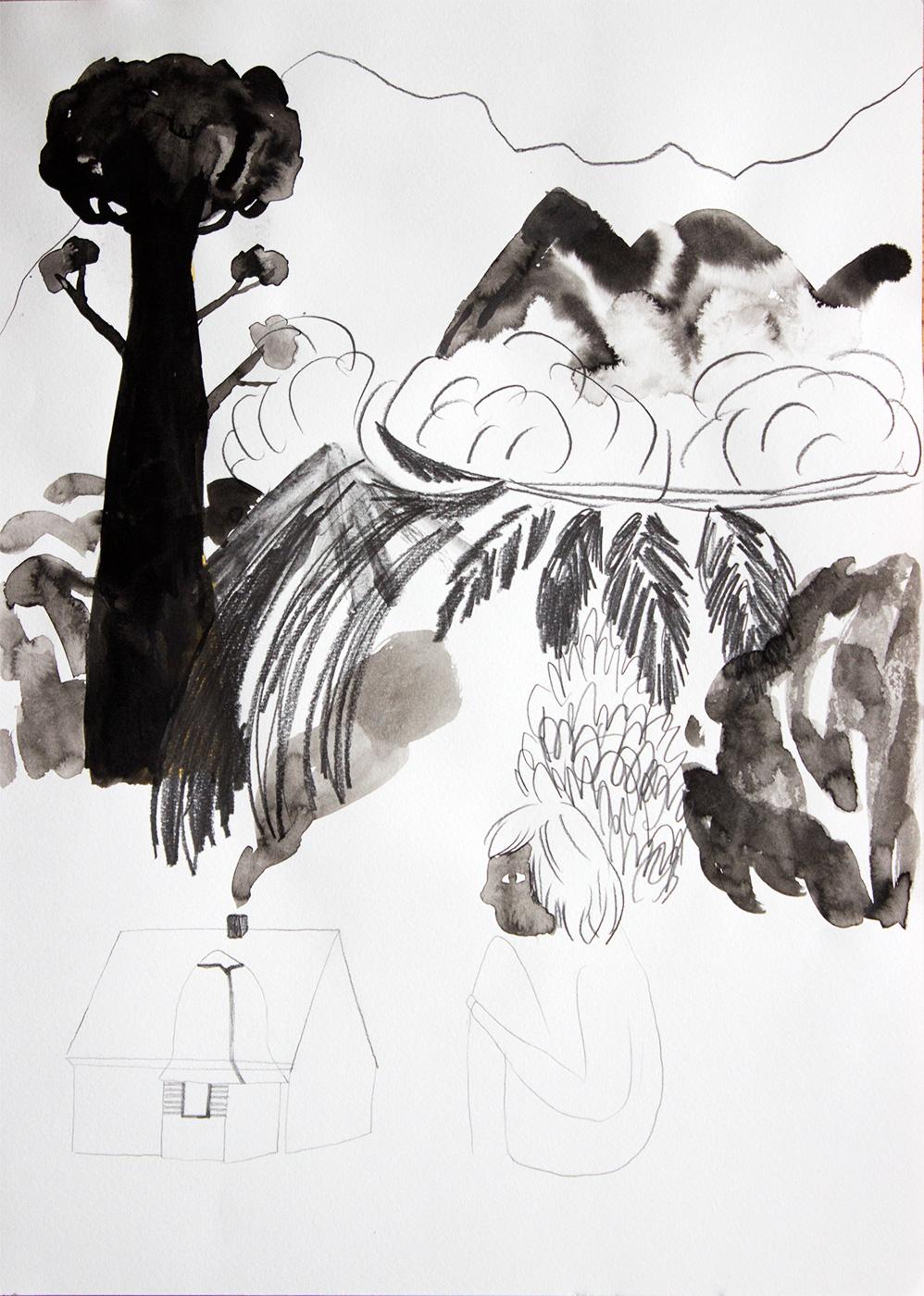 tegninger, figurative, geometriske, landskab, portræt, arkitektur, botanik, natur, sorte, grå, hvide, artliner, kul, akvarel, bygninger, dekorative, blomster, interiør, bolig-indretning, sceneri, træer, Køb original kunst og kunstplakater. Malerier, tegninger, limited edition kunsttryk & plakater af dygtige kunstnere.