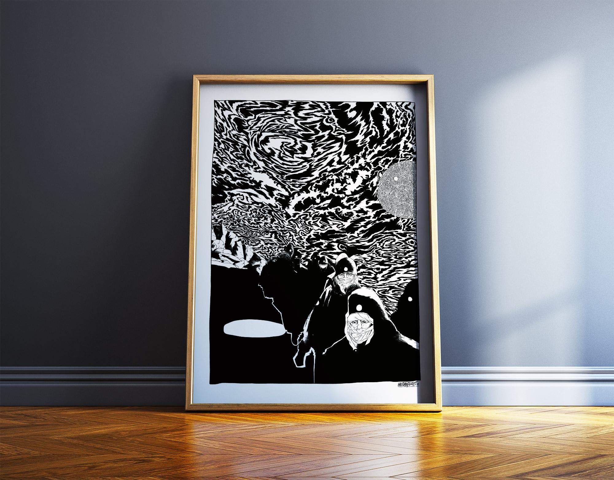 plakater-posters-kunsttryk, giclee-tryk, grafiske, illustrative, monokrome, portræt, tegneserier, bevægelse, natur, himmel, sorte, hvide, blæk, papir, atmosfære, sort-hvide, samtidskunst, dansk, dekorative, design, ansigter, moderne, moderne-kunst, bjerge, nordisk, plakater, tryk, skandinavisk, sceneri, Køb original kunst og kunstplakater. Malerier, tegninger, limited edition kunsttryk & plakater af dygtige kunstnere.