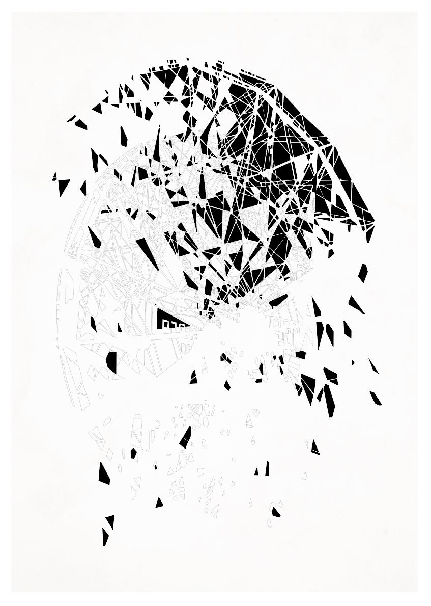 kunsttryk, fotografier, new-media, abstrakte, geometriske, arkitektur, mønstre, sorte, blæk, papir, abstrakte-former, arkitektoniske, smukke, bygninger, dekorative, design, interiør, bolig-indretning, Køb original kunst af den højeste kvalitet. Malerier, tegninger, limited edition kunsttryk & plakater af dygtige kunstnere.