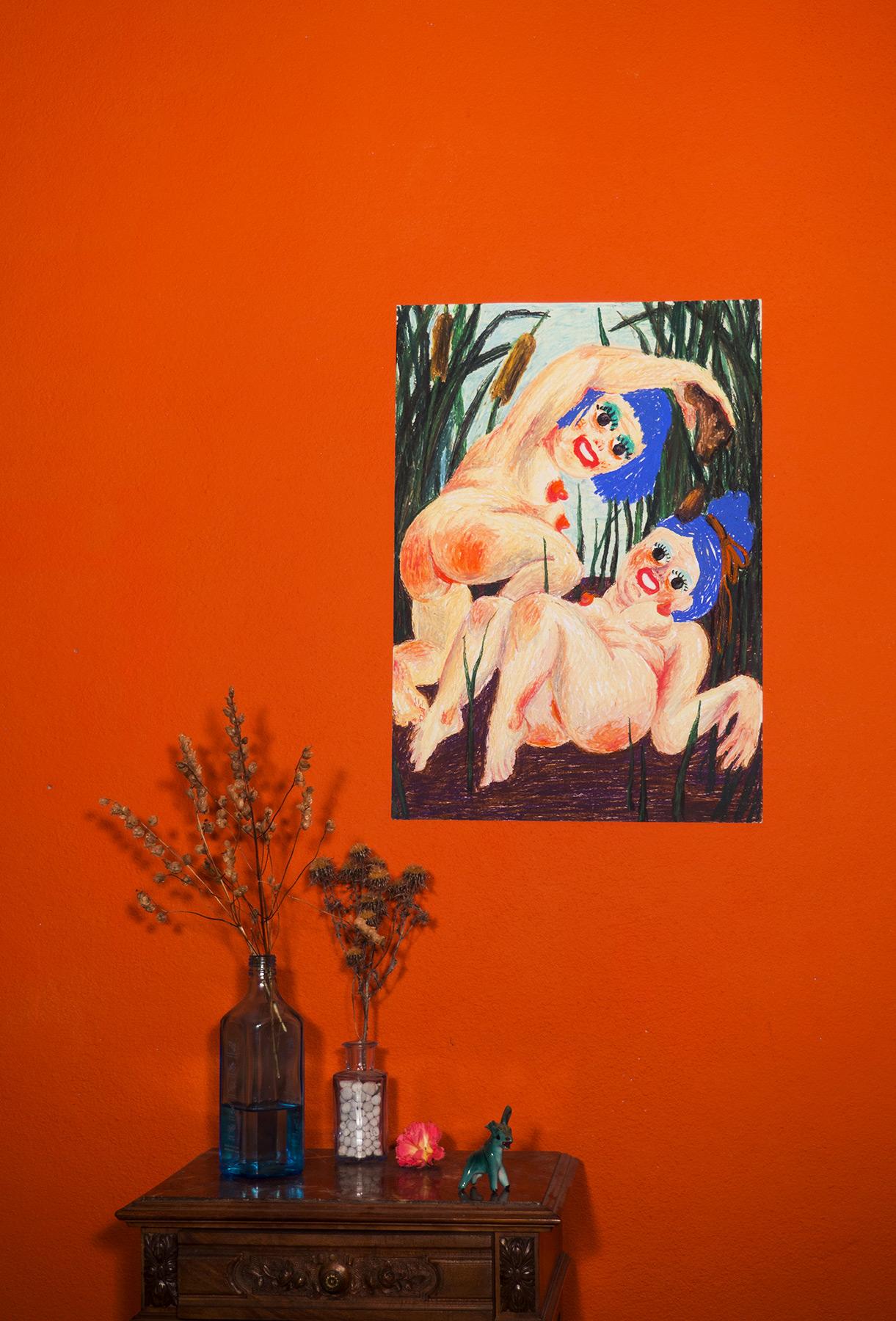 tegninger, farverige, figurative, illustrative, landskab, kroppe, humor, stemninger, natur, seksualitet, beige, brune, grønne, olie, sjove, samtidskunst, dansk, erotiske, kvindelig, feminist, have, piger, interiør, bolig-indretning, moderne, moderne-kunst, nordisk, nøgen, skandinavisk, seksuel, underlig, Køb original kunst og kunstplakater. Malerier, tegninger, limited edition kunsttryk & plakater af dygtige kunstnere.