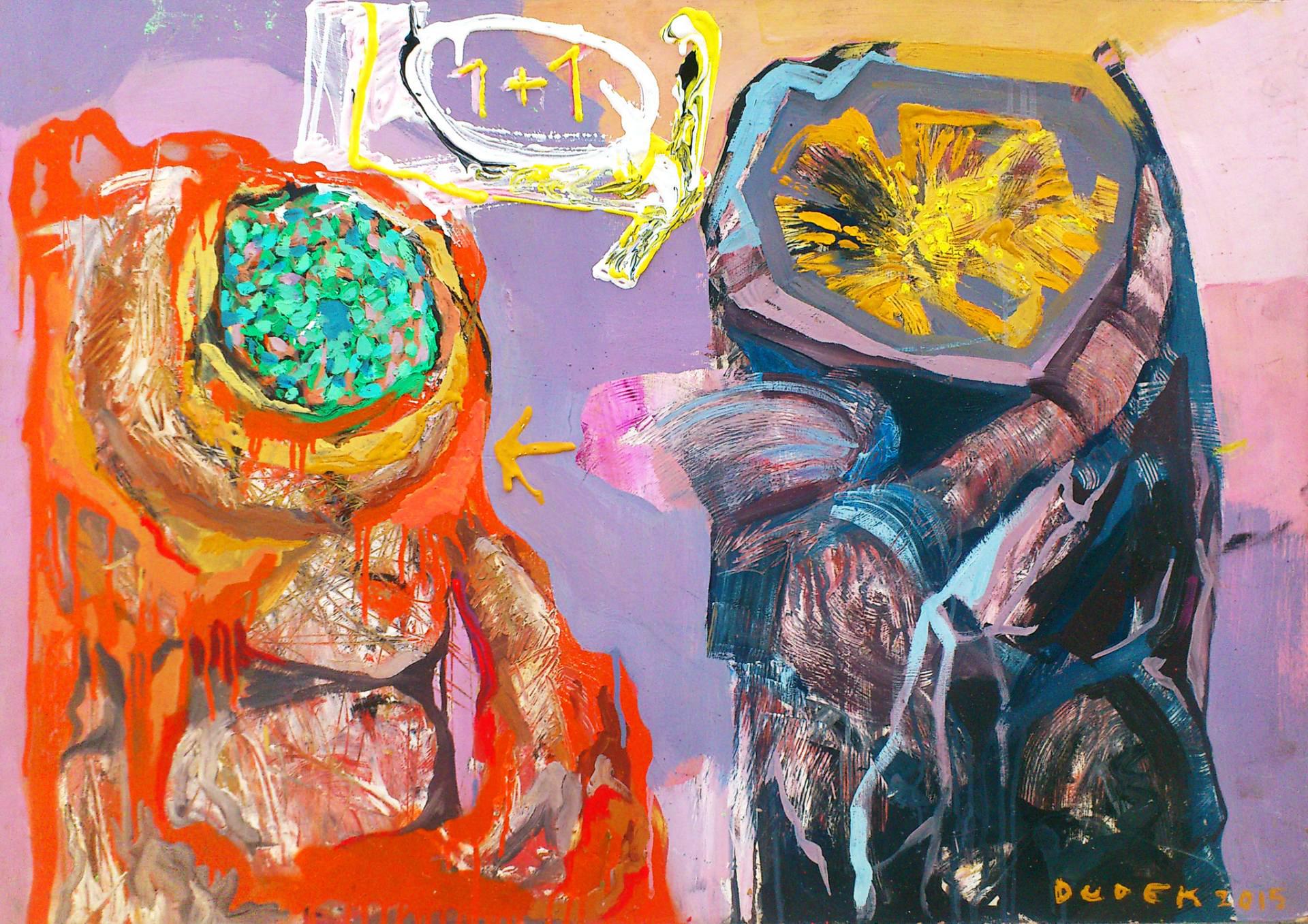 malerier, farverige, ekspressionistiske, bevægelse, mønstre, sorte, lillae, røde, gule,  bomuldslærred, pap, olie, spraymaling, abstrakte-former, levende, Køb original kunst og kunstplakater. Malerier, tegninger, limited edition kunsttryk & plakater af dygtige kunstnere.