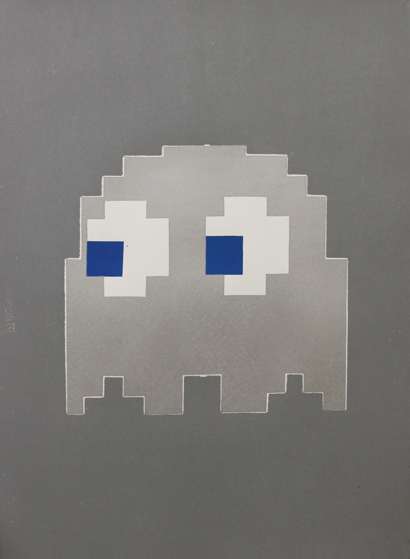 GHOST linocut_gray