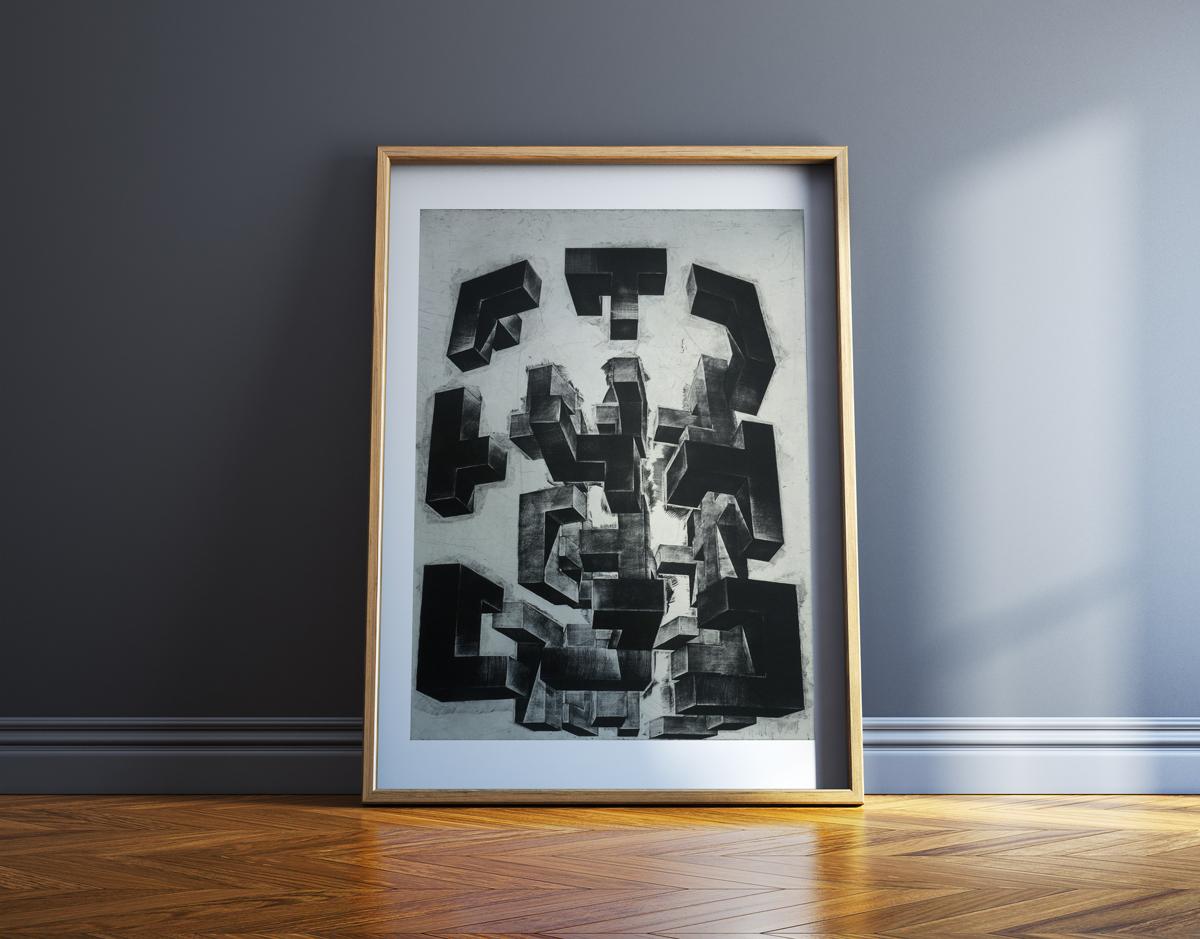 kunsttryk, engraveringer, abstrakte, æstetiske, monokrome, arkitektur, bevægelse, mønstre, sorte, grå, hvide, blæk, papir, abstrakte-former, efterår, dekorative, design, interiør, bolig-indretning, nordisk, skandinavisk, Køb original kunst og kunstplakater. Malerier, tegninger, limited edition kunsttryk & plakater af dygtige kunstnere.