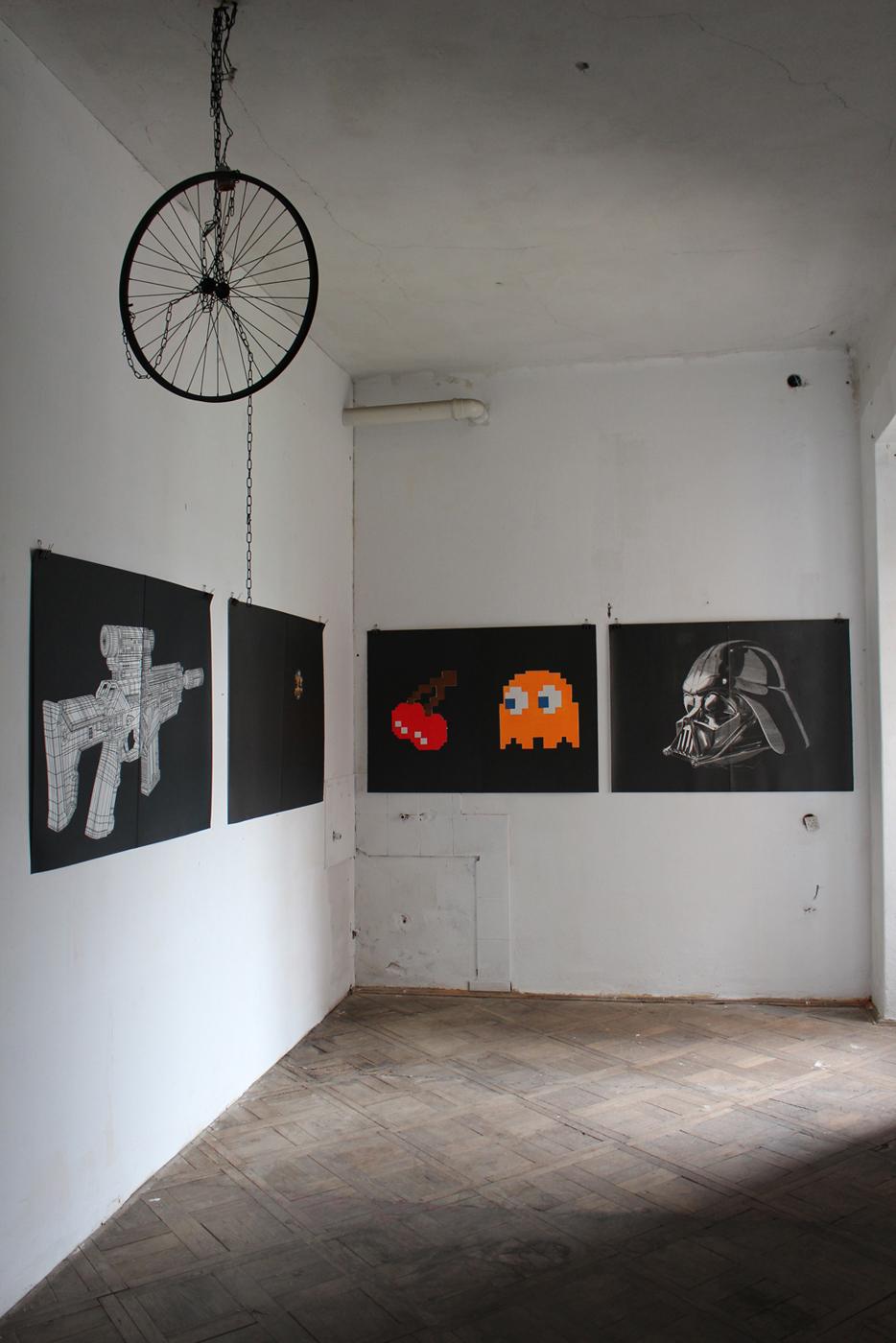 GUN linocut_exhibition