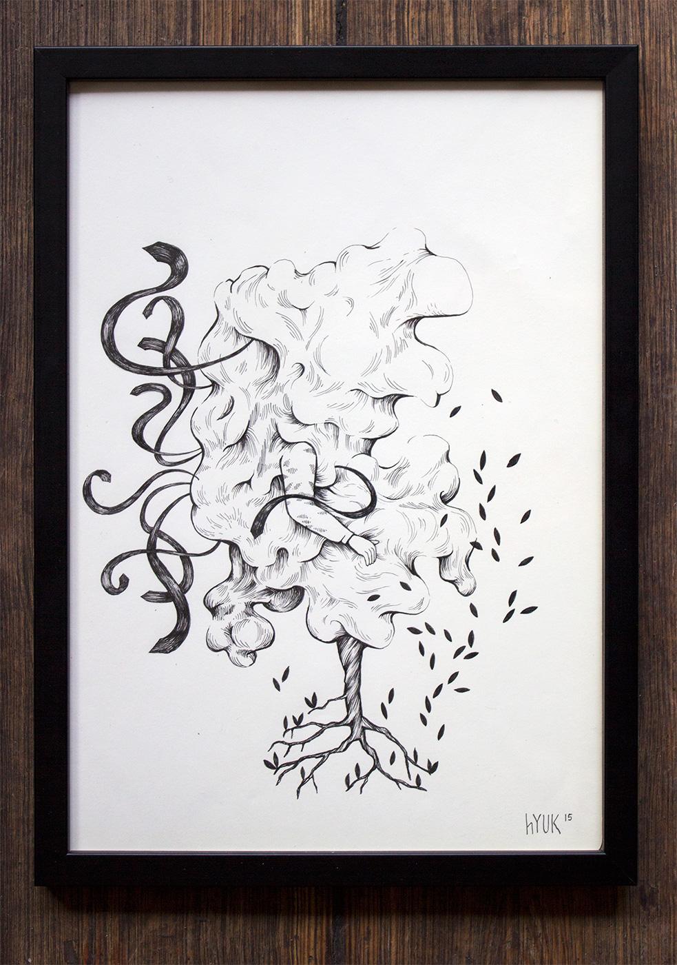 grafiske kunst illustrationer, dygtig dansk illustrator