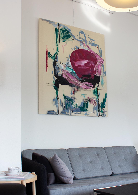 malerier, abstrakte, æstetiske, ekspressionistiske, minimalistiske, kroppe, bevægelse, mennesker, sorte, grønne, pink, akryl,  bomuldslærred, abstrakte-former, samtidskunst, dekorative, ekspressionisme, moderne, moderne-kunst, Køb original kunst og kunstplakater. Malerier, tegninger, limited edition kunsttryk & plakater af dygtige kunstnere.