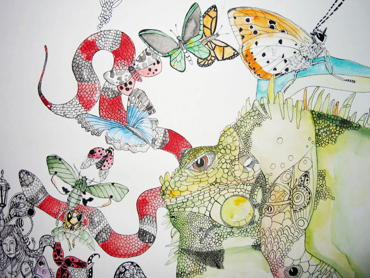 illustrationer. Udtryksfuldt moderne kunst. dyr. talentfulde kunstnere, online kunstgalleri.