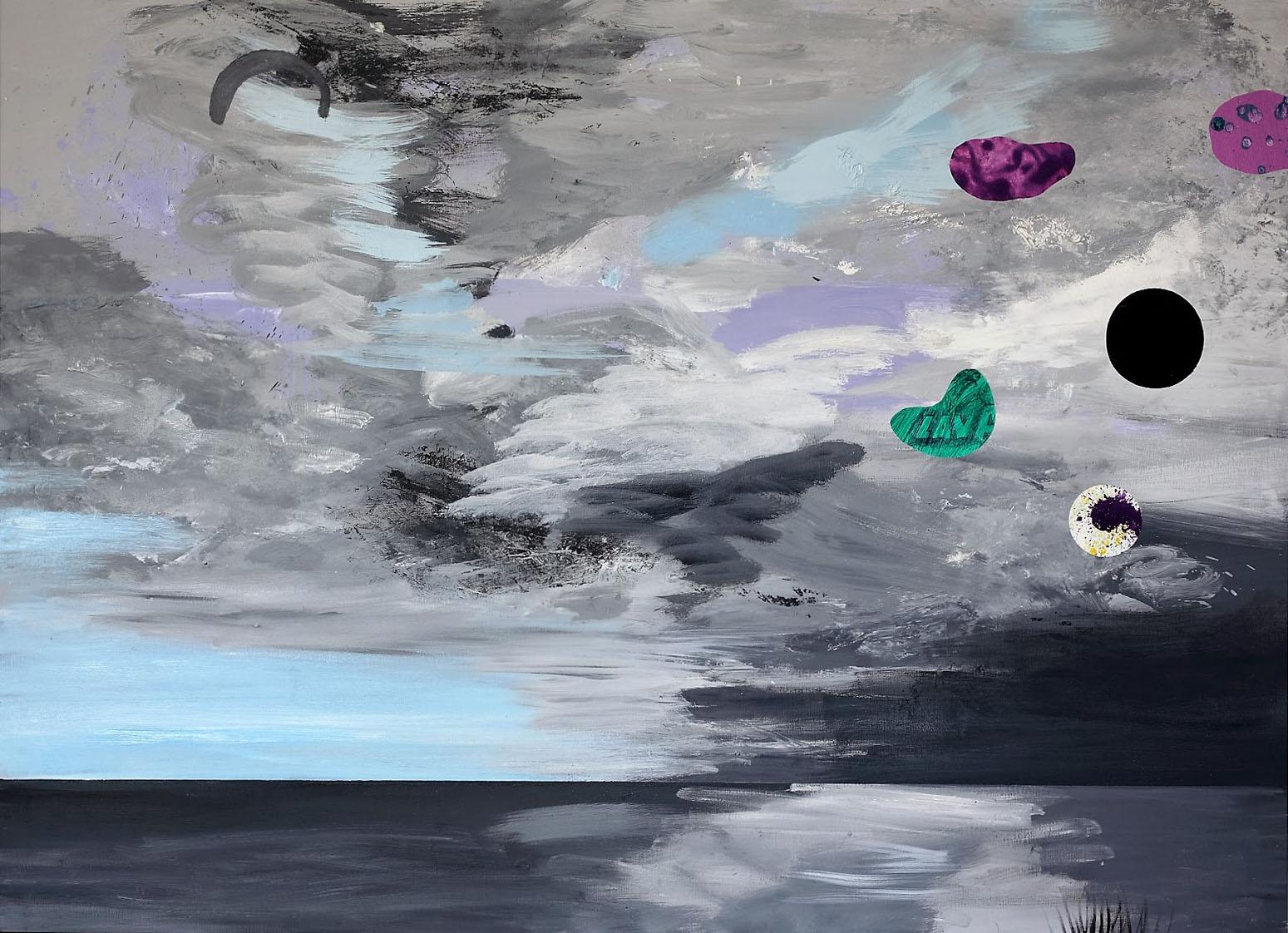 malerier, abstrakte, farverige, landskab, botanik, natur, mønstre, himmel, sorte, blå, grå,  bomuldslærred, olie, atmosfære, sceneri, levende, vand, Køb original kunst af den højeste kvalitet. Malerier, tegninger, limited edition kunsttryk & plakater af dygtige kunstnere.