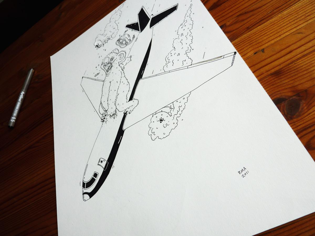fly, koala bjørn, illustrationer og tegninger, kunst, kunstgalleri, galleri, sjov tegning, street art, pop kultur, inspiration,