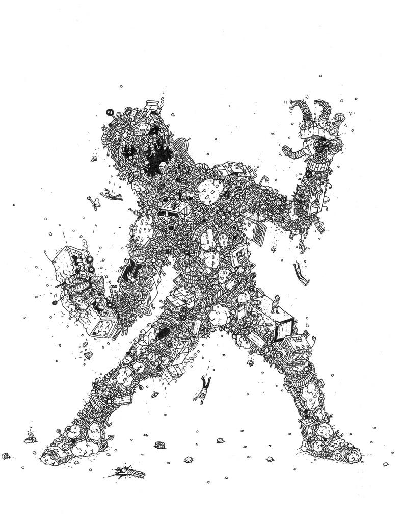 tegninger, illustrative, pop, tegneserier, humor, vilde-dyr, sorte, hvide, papir, tusch, sjove, skitse, street-art, vilde-dyr, Køb original kunst og kunstplakater. Malerier, tegninger, limited edition kunsttryk & plakater af dygtige kunstnere.