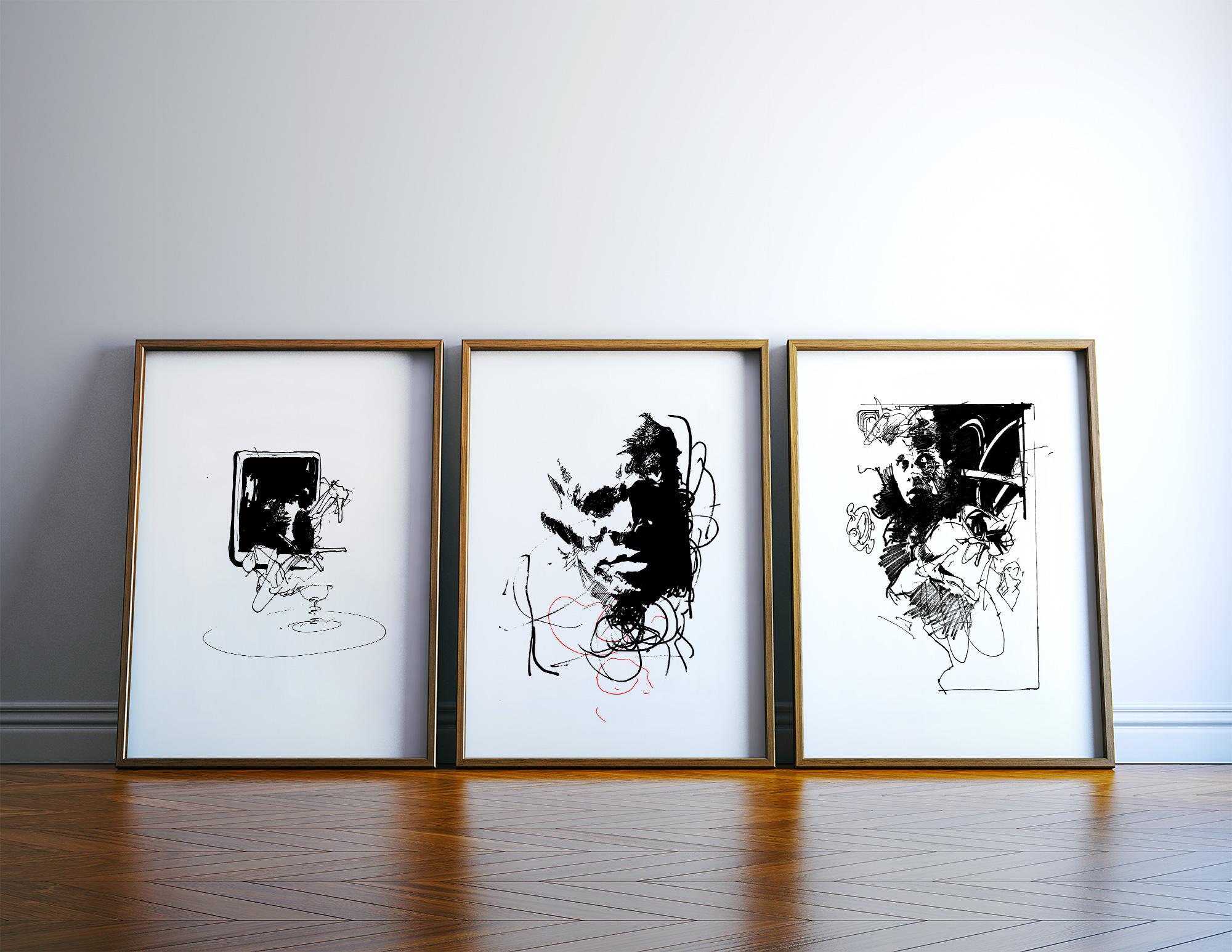 kunsttryk, gliceé, ekspressionistiske, monokrome, mønstre, mennesker, sorte, hvide, blæk, papir, sort-hvide, samtidskunst, dansk, design, ekspressionisme, ansigter, interiør, bolig-indretning, moderne, moderne-kunst, nordisk, plakater, tryk, skandinavisk, Køb original kunst og kunstplakater. Malerier, tegninger, limited edition kunsttryk & plakater af dygtige kunstnere.