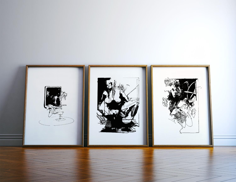plakater-posters-kunsttryk, giclee-tryk, abstrakte, ekspressionistiske, monokrome, mønstre, mennesker, sorte, hvide, blæk, papir, sort-hvide, samtidskunst, dansk, dekorative, design, ekspressionisme, ansigter, interiør, bolig-indretning, moderne, moderne-kunst, nordisk, plakater, tryk, skandinavisk, Køb original kunst og kunstplakater. Malerier, tegninger, limited edition kunsttryk & plakater af dygtige kunstnere.