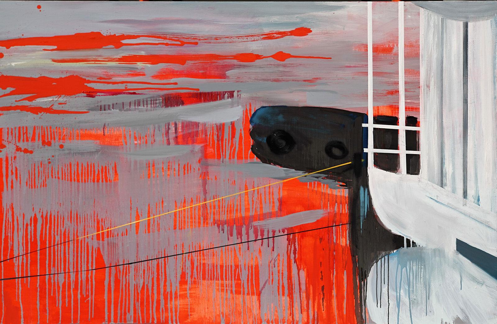 malerier, abstrakte, farverige, ekspressionistiske, landskab, natur, havet, sejlads, transportmidler, grå, røde, hvide,  bomuldslærred, olie, både, dansk, interiør, moderne, moderne-kunst, nordisk, sejlbåd, sceneri, skibe, fartøjer, vand, Køb original kunst og kunstplakater. Malerier, tegninger, limited edition kunsttryk & plakater af dygtige kunstnere.