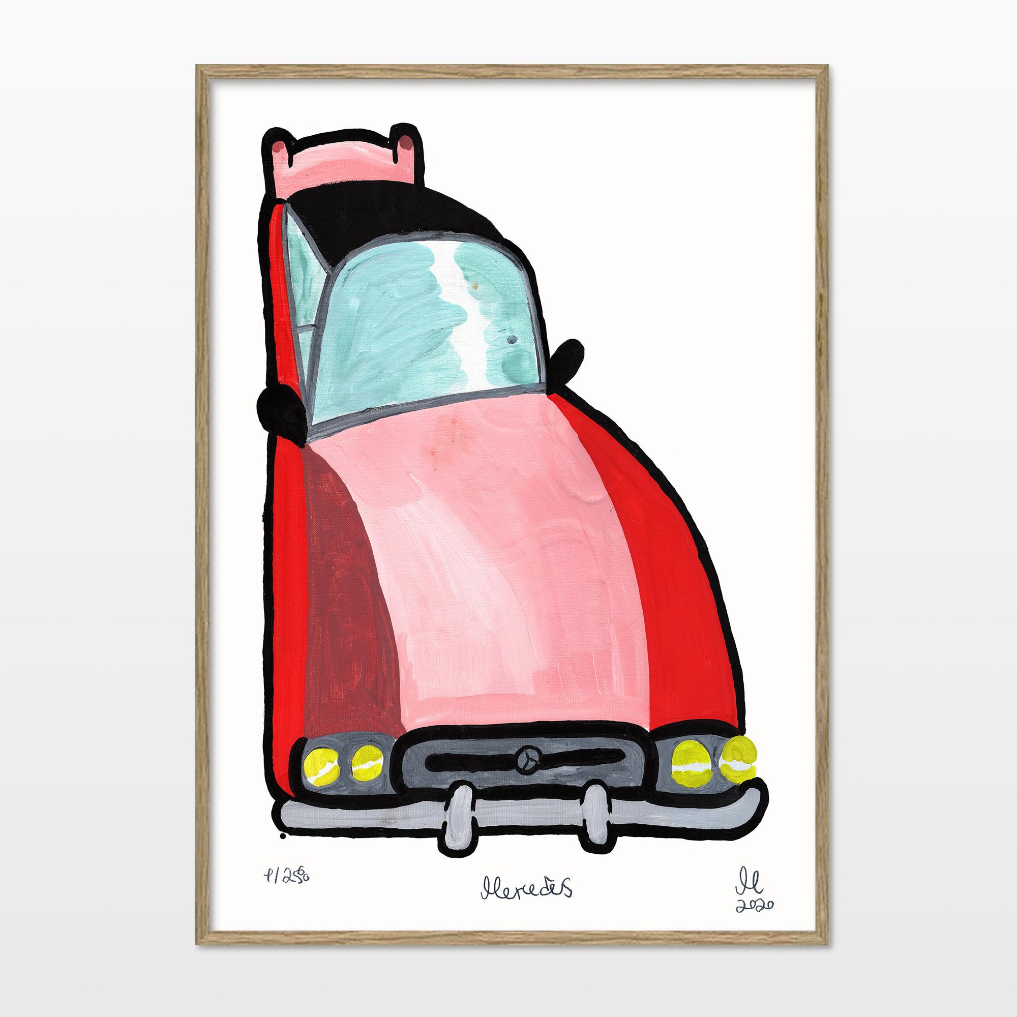 plakater-posters-kunsttryk, giclee-tryk, børnevenlige, figurative, illustrative, tegneserier, bevægelse, teknologi, transportmidler, pink, røde, turkise, blæk, biler, samtidskunst, dansk, dekorative, design, interiør, bolig-indretning, moderne, moderne-kunst, nordisk, pop-art, plakater, skandinavisk, Køb original kunst og kunstplakater. Malerier, tegninger, limited edition kunsttryk & plakater af dygtige kunstnere.