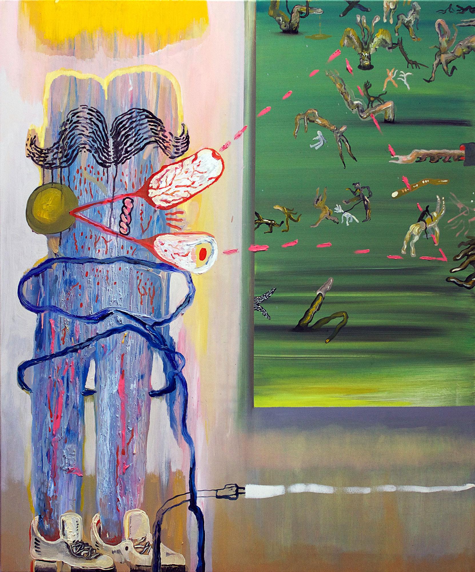 malerier, farverige, ekspressionistiske, surrealistiske, natur, mennesker, blå, grønne, violette, gule,  bomuldslærred, olie, abstrakte-former, samtidskunst, dansk, dekorative, design, ekspressionisme, ansigter, interiør, bolig-indretning, moderne, moderne-kunst, nordisk, skandinavisk, levende, Køb original kunst og kunstplakater. Malerier, tegninger, limited edition kunsttryk & plakater af dygtige kunstnere.
