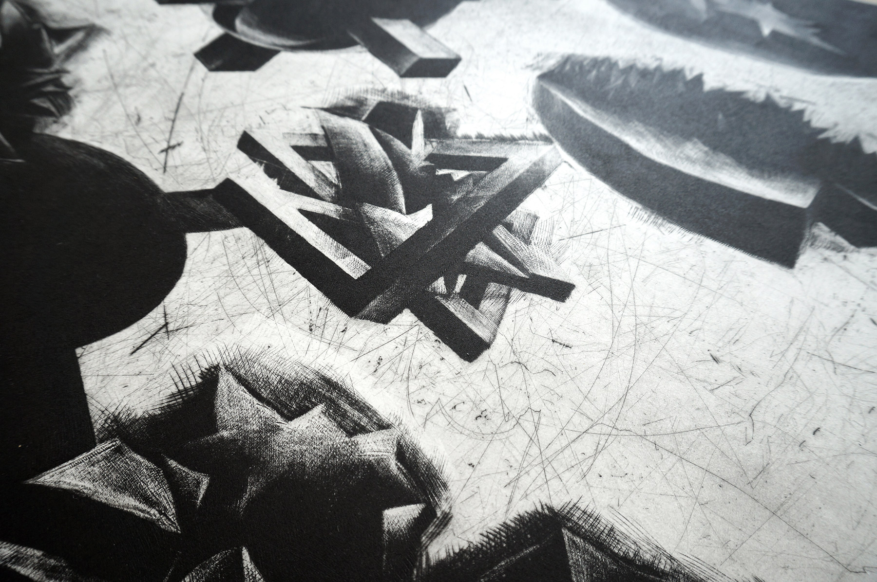 kunsttryk, engraveringer, abstrakte, geometriske, grafiske, landskab, monokrome, natur, mønstre, sorte, grå, hvide, blæk, papir, abstrakte-former, efterår, sort-hvide, dansk, dekorative, design, interiør, bolig-indretning, nordisk, skandinavisk, sceneri, Køb original kunst og kunstplakater. Malerier, tegninger, limited edition kunsttryk & plakater af dygtige kunstnere.