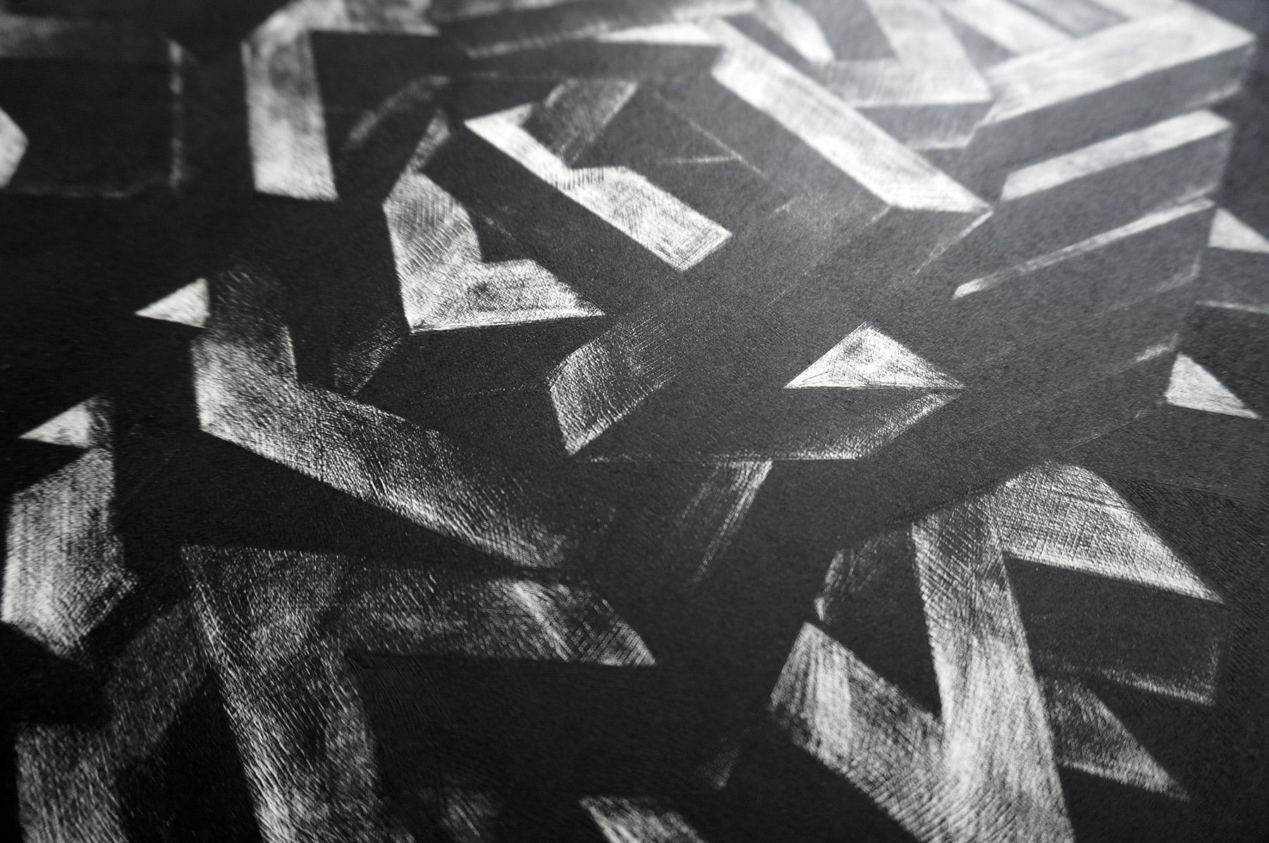 kunsttryk, engraveringer, abstrakte, grafiske, monokrome, mønstre, sorte, grå, hvide, blæk, papir, abstrakte-former, efterår, sort-hvide, dansk, dekorative, design, interiør, bolig-indretning, nordisk, skandinavisk, Køb original kunst og kunstplakater. Malerier, tegninger, limited edition kunsttryk & plakater af dygtige kunstnere.