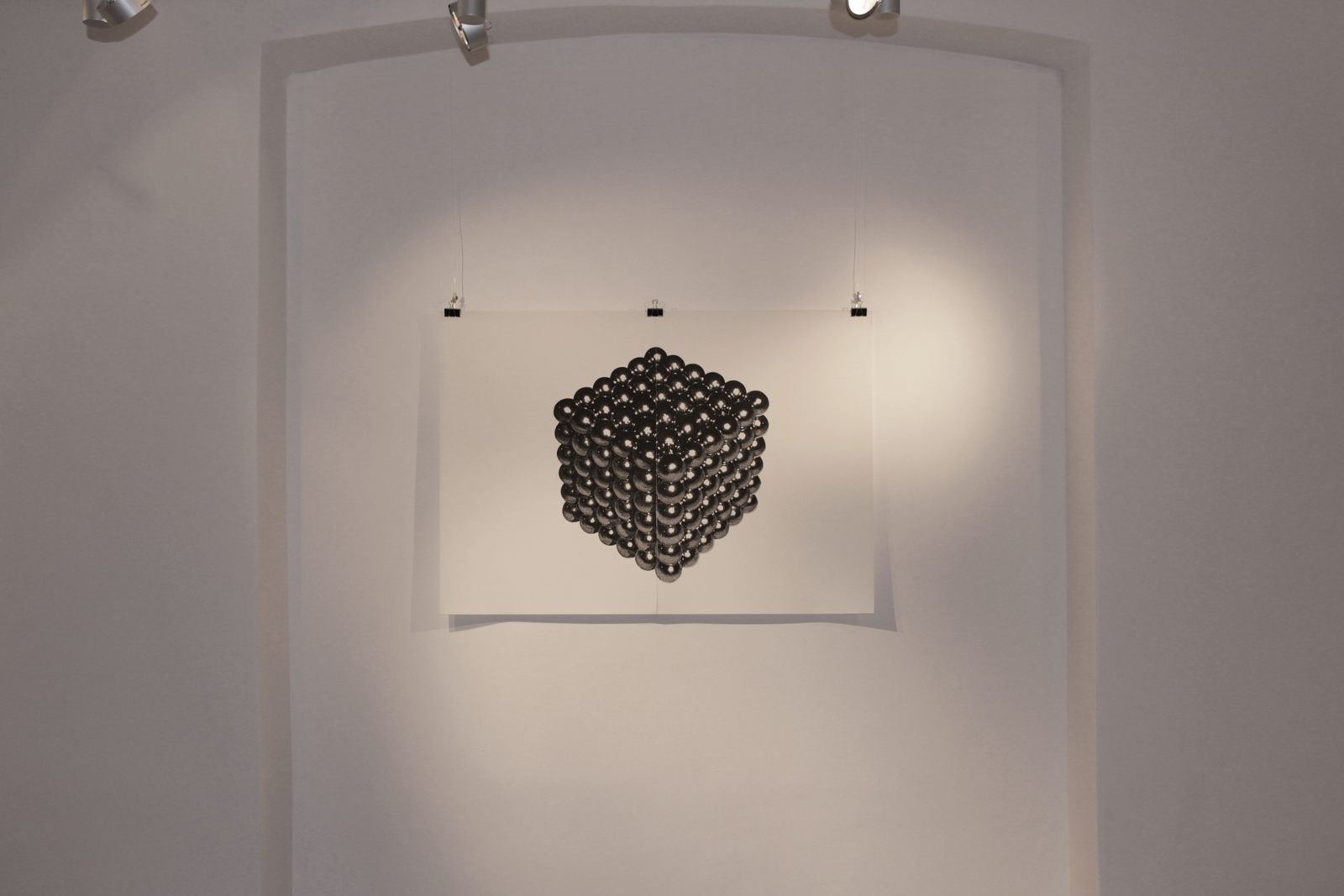 MAGNETIC CUBE linocut_Doctorate exhibition