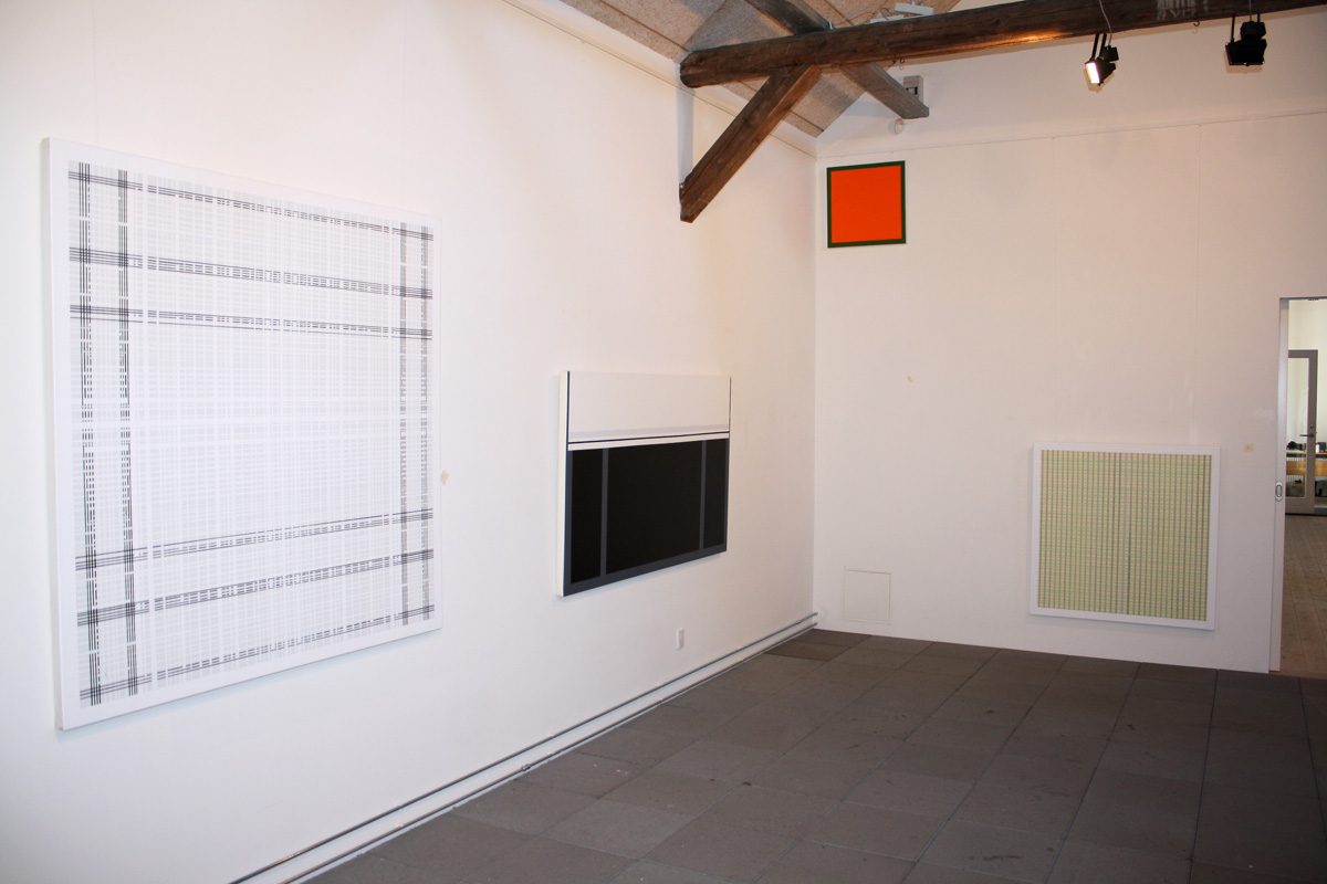 Malerier abstrakte grafiske minimalistiske m rkegr nne orange uden titel 4 kirsten - Insulating exterior paint minimalist ...