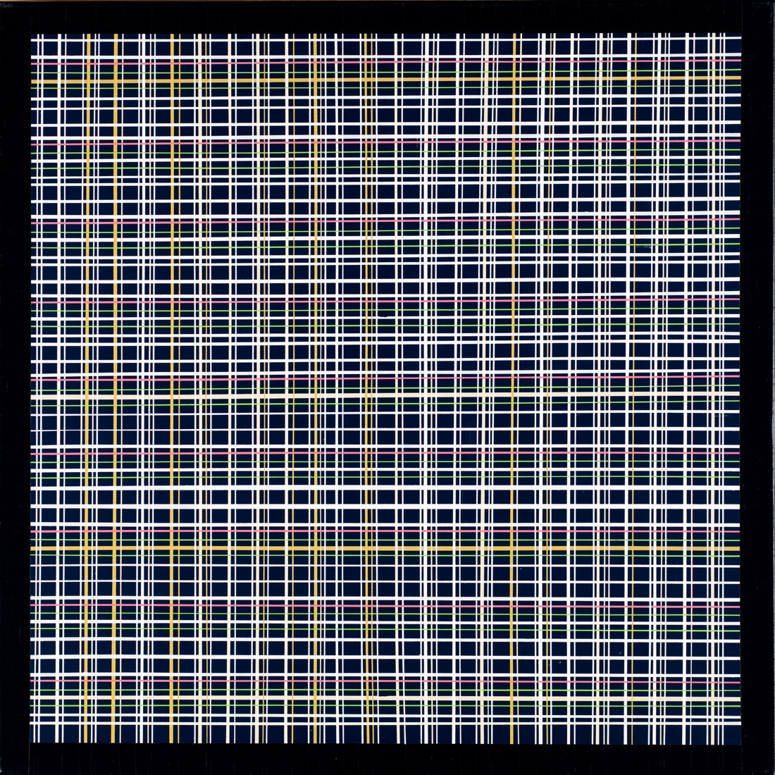bedste kunst online, æstetisk minimalistisk maleri, enkelt, stilrent, linjer, sort, hvid, farver, blå, røde linjer, grafisk, design