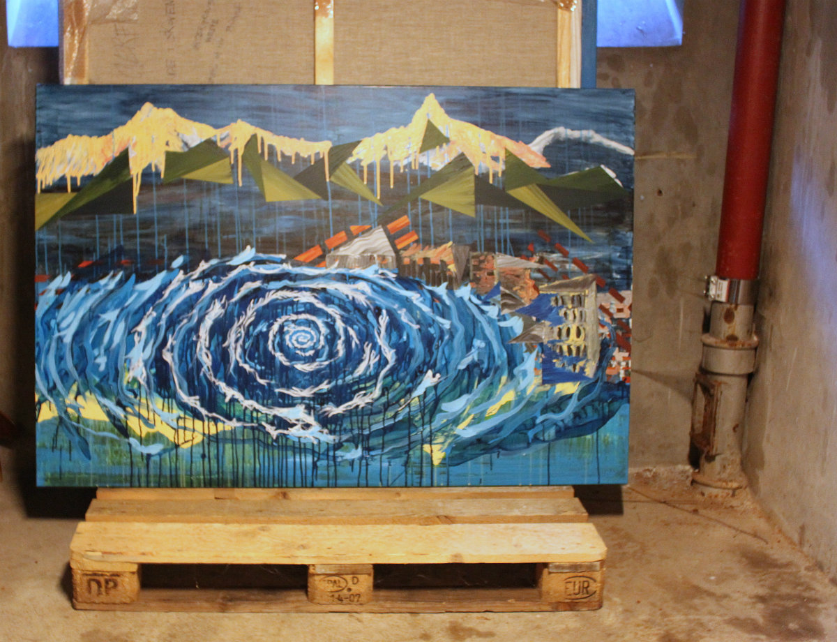 vand bjerge undergang