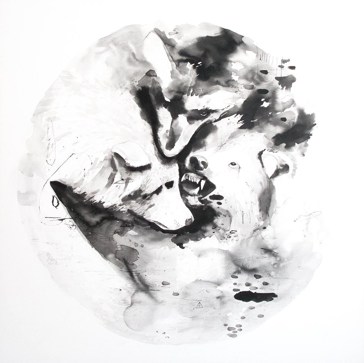 malerier, online kunstgaller, dygtige kunstere, illustrationer, sort hvid, kunstværker