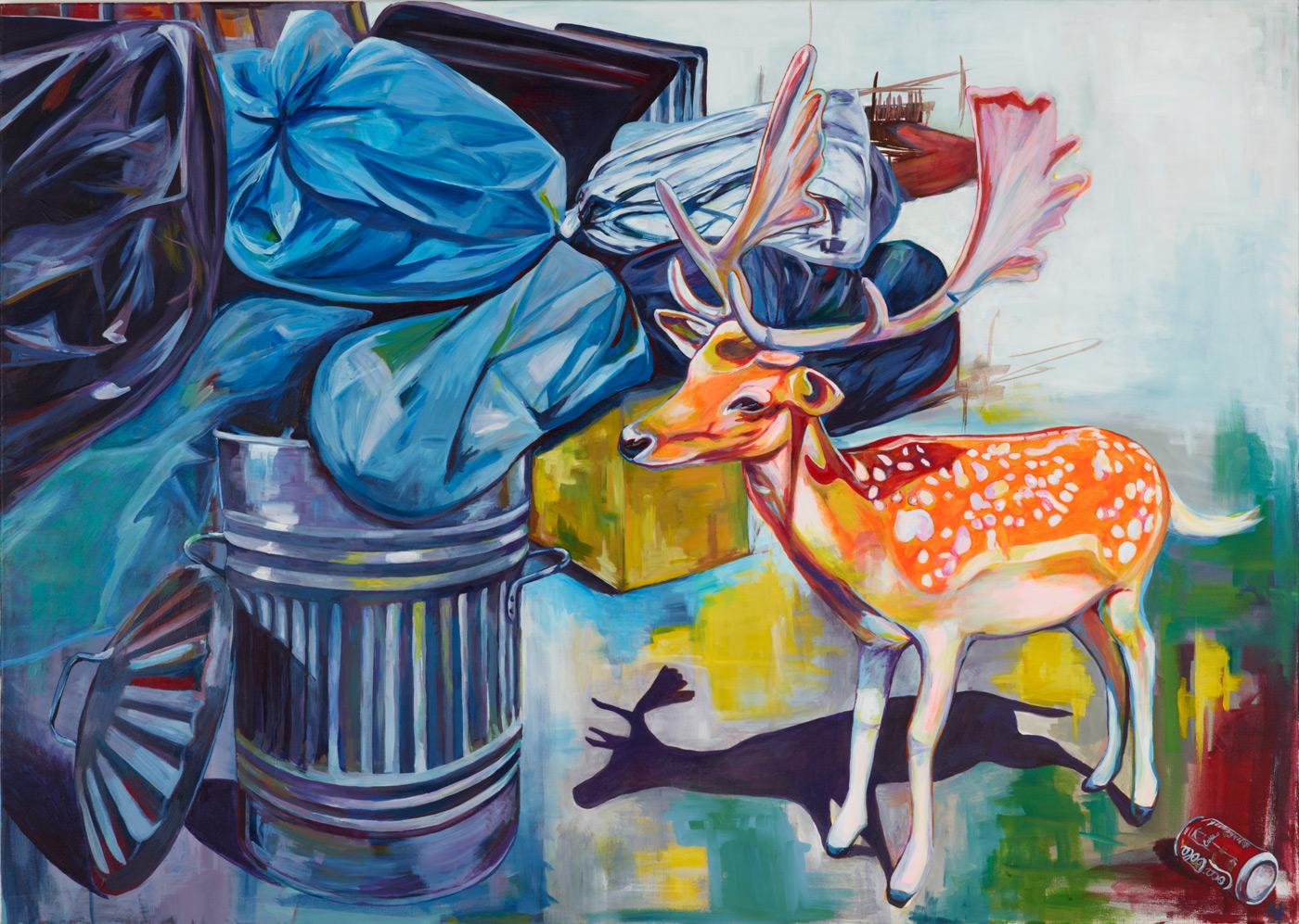 malerier, dyr, farverige, figurative, illustrative, pop, dyreliv, botanik, natur, vilde-dyr, blå, grønne, grå, orange, akryl,  bomuldslærred, samtidskunst, dekorative, design, interiør, bolig-indretning, moderne, moderne-kunst, naive, naturlig, nordisk, pop-art, realisme, skandinavisk, levende, vilde-dyr, Køb original kunst og kunstplakater. Malerier, tegninger, limited edition kunsttryk & plakater af dygtige kunstnere.