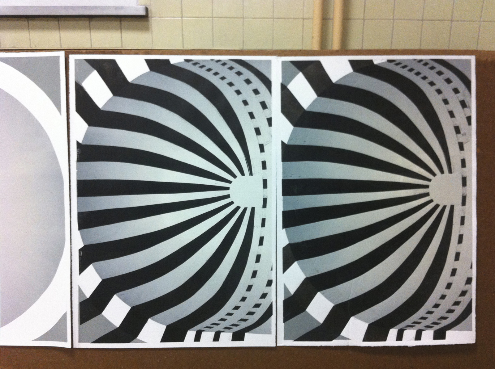 MIHRAB II linocut_printing process