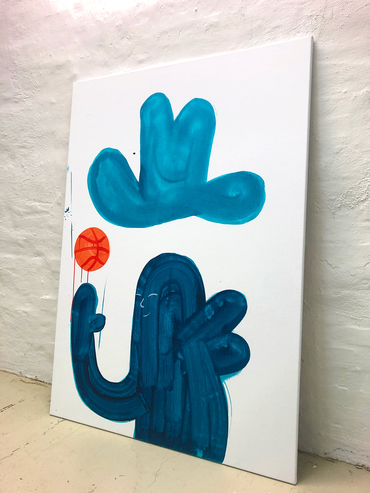 malerier, børnevenlige, grafiske, illustrative, minimalistiske, pop, kroppe, mennesker, sport, blå, orange, turkise, hvide, akryl, hørlærred, abstrakte-former, sjove, samtidskunst, københavn, dansk, dekorative, design, hatte, interiør, bolig-indretning, moderne, moderne-kunst, nordisk, pop-art, skandinavisk, street-art, Køb original kunst og kunstplakater. Malerier, tegninger, limited edition kunsttryk & plakater af dygtige kunstnere.