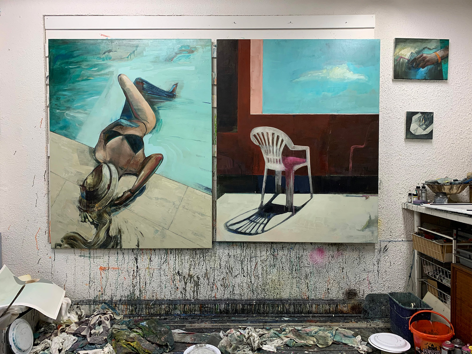 malerier, ekspressionistiske, figurative, grafiske, illustrative, kroppe, stemninger, natur, havet, mennesker, årstider, seksualitet, beige, blå, grønne, grå, turkise, akryl, kul,  bomuldslærred, olie, strand, smukke, samtidskunst, dag, drinks, ekspressionisme, kvindelig, piger, bolig-indretning, moderne-kunst, nordisk, skandinavisk, hav, former, vand, kvinder, Køb original kunst og kunstplakater. Malerier, tegninger, limited edition kunsttryk & plakater af dygtige kunstnere.